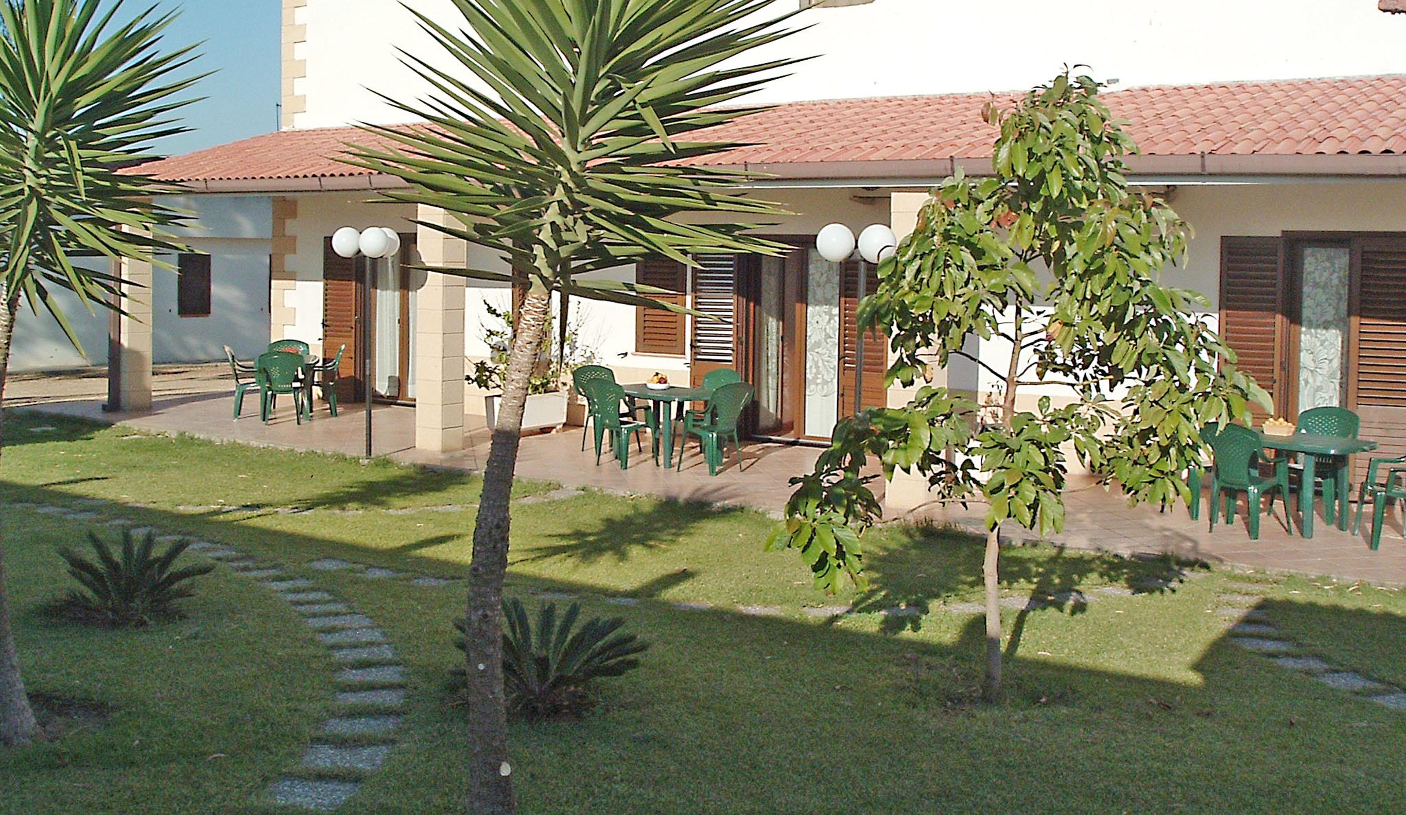 giardino su verande